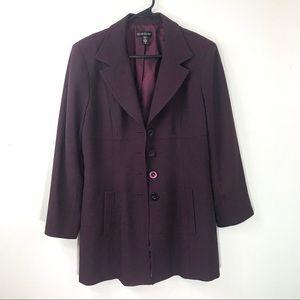 Bebe burgundy blazer size 12
